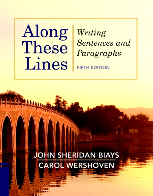 along these lines writing paragraphs essays 5th edition answers Along these lines: writing sentences and paragraphs, to comprehensive chapters on crafting paragraphs and even short essays for along these lines, 5th edition.