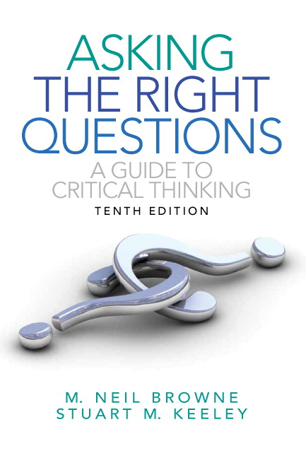 critical thinking moore parker answers Critical thinking is the objective analysis of facts to form a judgment the subject  is complex,  evaluating information to reach an answer or conclusion  disciplined thinking that is clear, rational,  moore, brooke noel and parker,  richard.