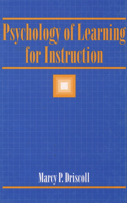 Driscoll Psychology Of Learning For Instruction Pearson