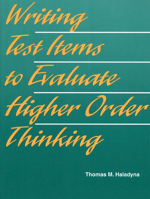 Writing essay and higher order test items