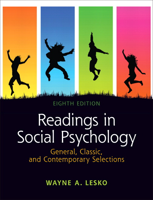 Aronson wilson akert sommers revel for social psychology readings in social psychology general classic and contemporary selections 8th edition fandeluxe Choice Image