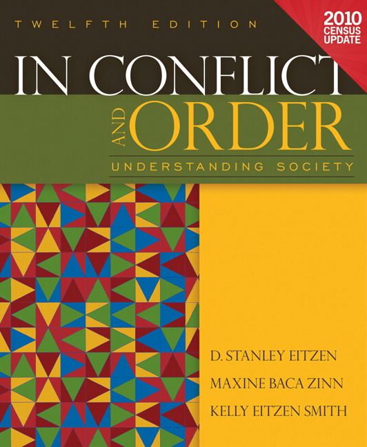 sociology in conflict and order chapter 10 class Whereas comte viewed the goal of sociology as recreating a unified, post-feudal spiritual order that would help to institutionalize a new era of political and social stability, marx developed a critical analysis of capitalism that saw the material or economic basis of inequality and power relations as the cause of social instability and conflict.