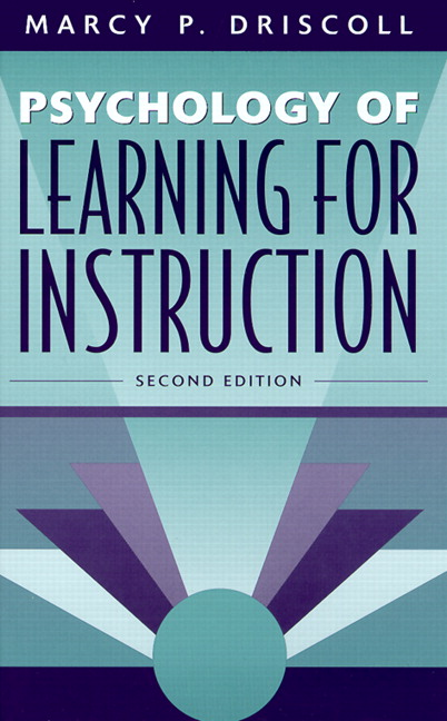 Driscoll Psychology Of Learning For Instruction 3rd Edition Pearson