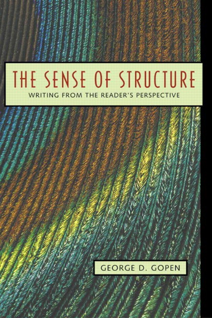 Sense of Structure, The: Writing from the Reader's Perspective