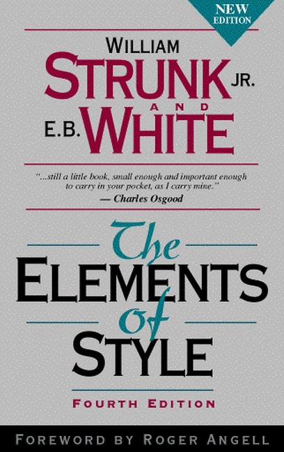 elements of style william strunk eb white