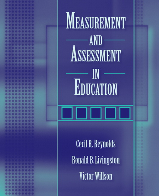 Reynolds livingston willson measurement and assessment in measurement and assessment in education fandeluxe Gallery
