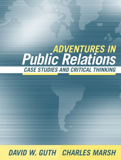 public relations case studies for students Upon successful completion of this course, students will be able: 1 to  demonstrate  case studies in strategic public relations/course schedule  class date.