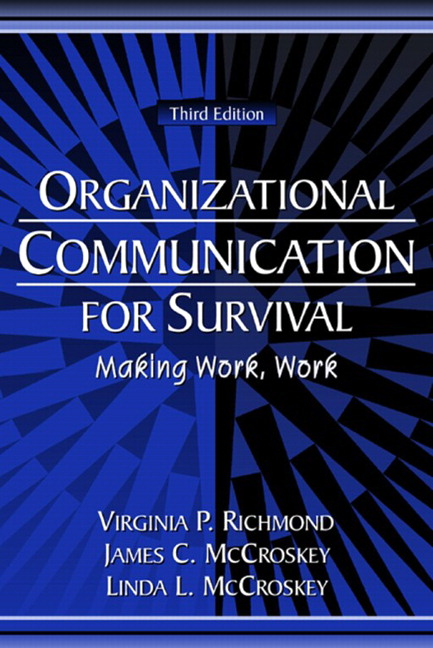 mccroskey communication essays An important part of our communication is our worldview (klopf & mccroskey o in several studies and essays.