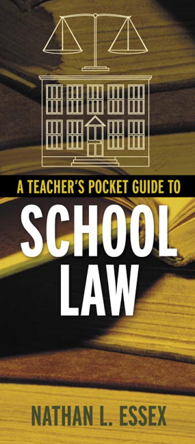A literary analysis of a teachers pocket guide to school law by nathan essex
