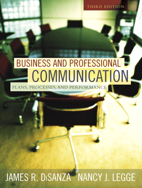 Business Communication Book Cover : Disanza legge business and professional communication