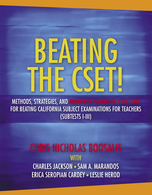 Boosalis, Beating the CSET! Methods, Strategies, and
