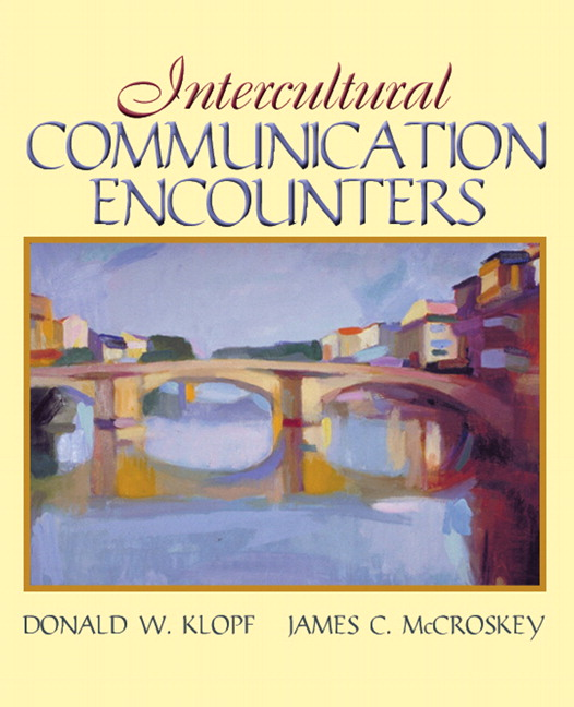 Klopf mccroskey intercultural communication encounters pearson book cover fandeluxe Gallery