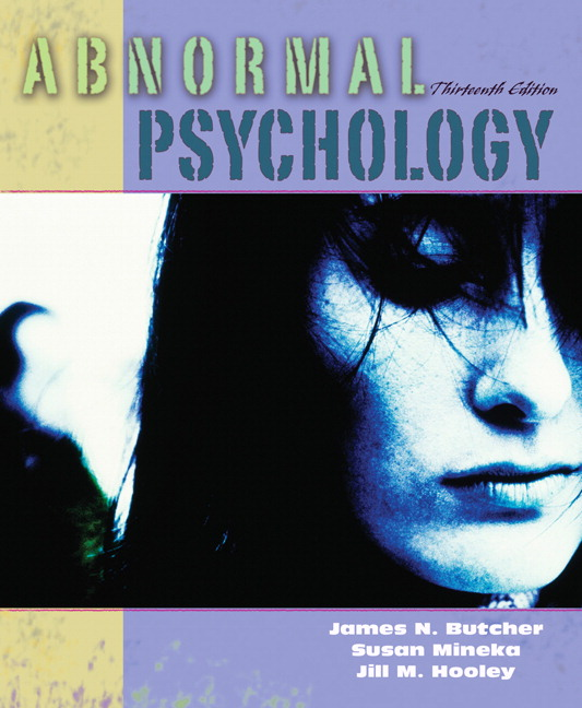 Butcher mineka hooley abnormal psychology pearson abnormal psychology 13th edition fandeluxe