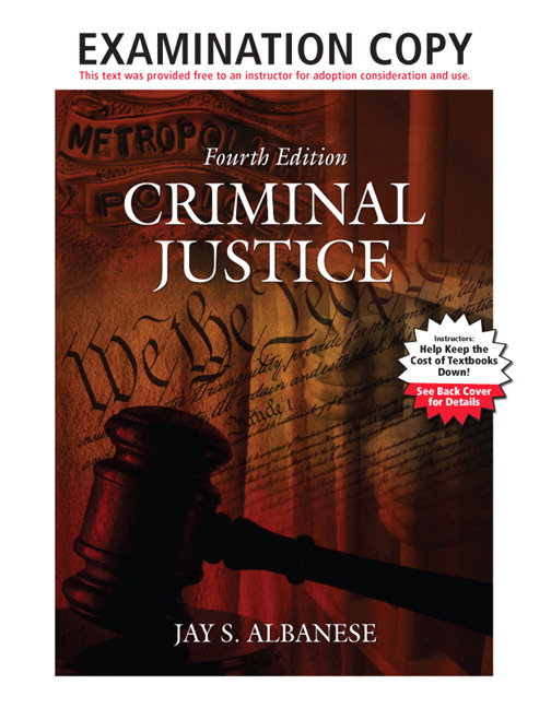 Exam Copy for Criminal Justice