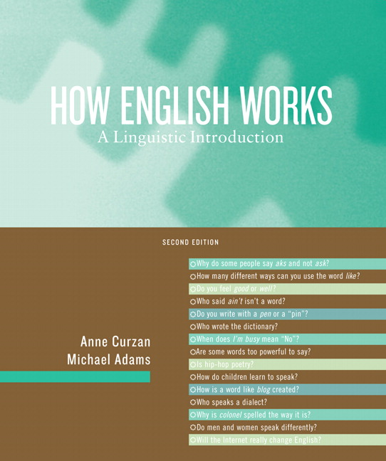 Curzan adams how english works a linguistic introduction pearson how english works a linguistic introduction 2nd edition fandeluxe Image collections