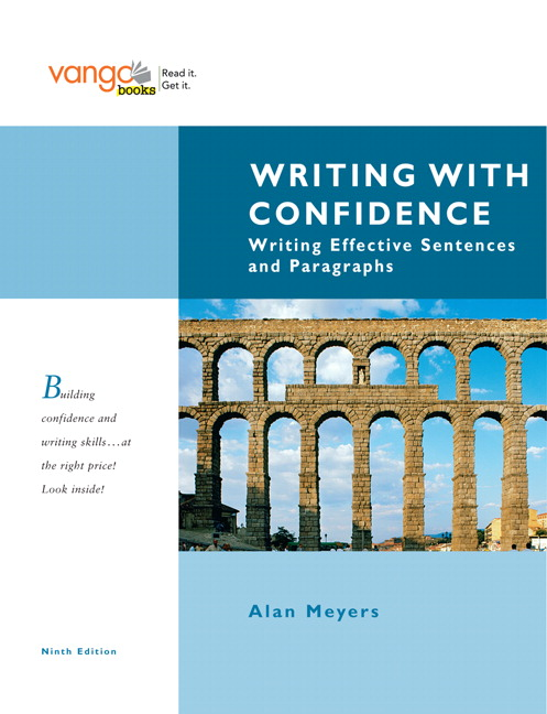 Meyers writing with confidence writing effective sentences and writing with confidence writing effective sentences and paragraphs vangobooks 9th edition fandeluxe Image collections