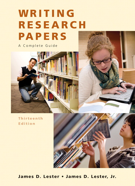 writing research papers by james lester 12th edition The definitive research paper guide, lester combines a traditional and practical approach to the research process with the latest information on researching and writing online.