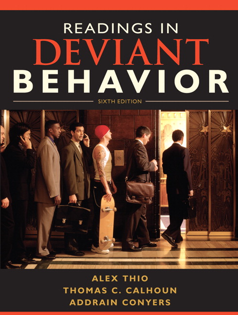 Thio calhoun conyers readings in deviant behavior 6th edition book cover fandeluxe Gallery