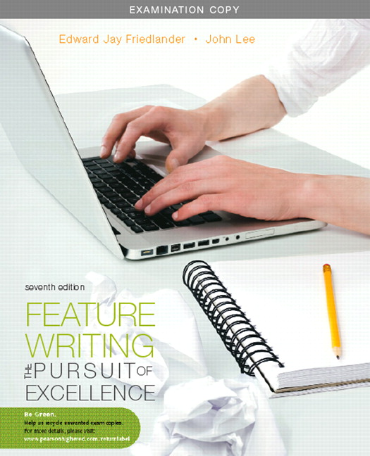 Exam Copy For Feature Writing Newspapers And