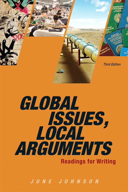 global issues local arguments on cultural growing pains Global issues, local arguments: readings for writing © 2007 2 why was (or was not) this information part of your regular cultural knowledge as you discuss the global-to-local connections in the chapters' readings, think about how specific issues and individual arguments tap.