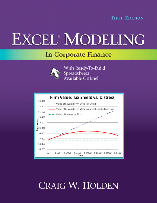 Holden excel modeling in corporate finance 5th edition pearson excel modeling in corporate fandeluxe