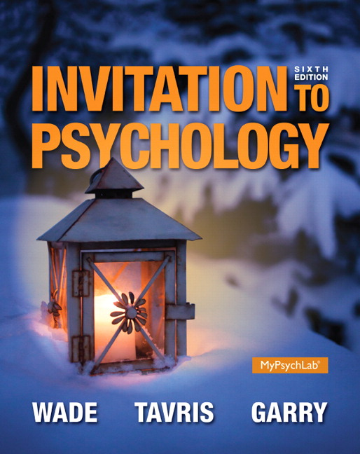 Wade Tavris Sommers Shin Invitation To Psychology 7th Edition