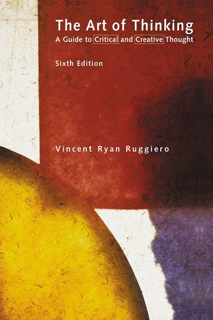 ruggiero critical thinking inquiries ch The art of thinking by vincent ryan ruggiero starting at $099 the art of thinking has 0 available the art of thinking: a guide to critical and creative.