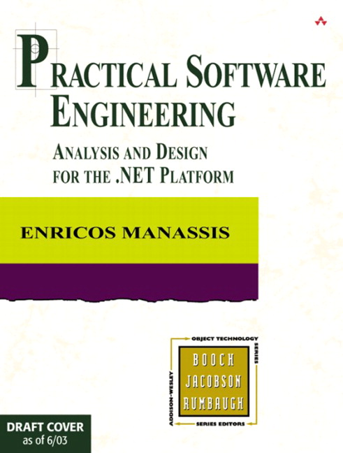 Manassis Practical Software Engineering Analysis And Design For The Net Platform Pearson