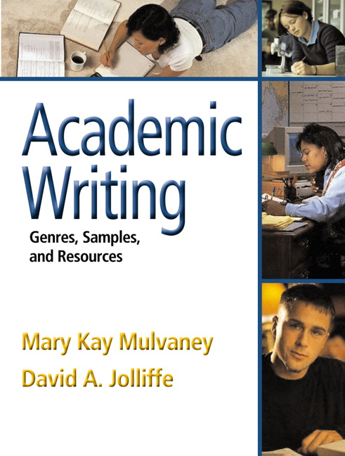 Mulvaney & Jolliffe, Academic Writing: Genres, Samples, and Resources