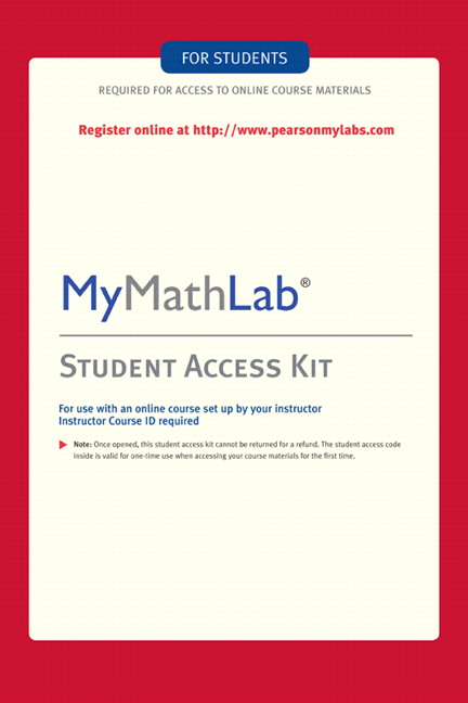 Pearson education mylab math standalone access card pearson mylab math standalone access card 4th edition fandeluxe Gallery
