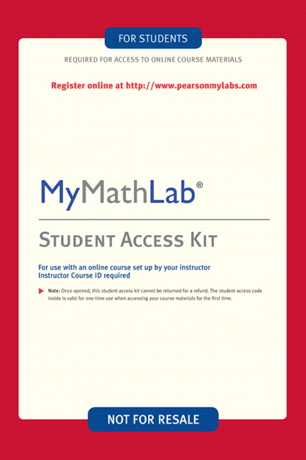 MyLab Math -- Valuepack Access Card
