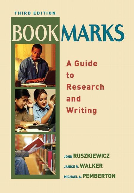 Ruszkiewicz walker pemberton bookmarks a guide to research and bookmarks a guide to research fandeluxe Choice Image