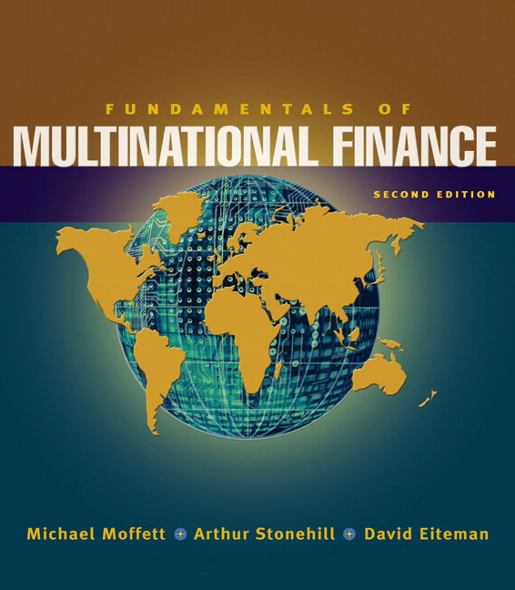 multinational business finance eiteman stonehill moffett ch 2 Multinational business finance has 93 ratings and 7 reviews by david k eiteman, michael h moffett very high number of errors in the end-of-chapter exercises.