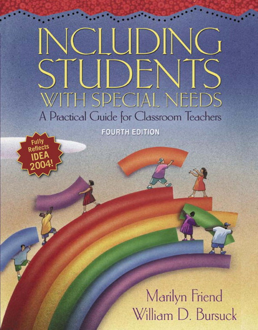including students with special needs a Teaching students with special needs in inclusive classrooms bryant, diane pedrotty special education law rothstein, laura f this package includes the enhanced pearson etext, loose-leaf version and the video analysis tool in mediashare for special education/inclusion.