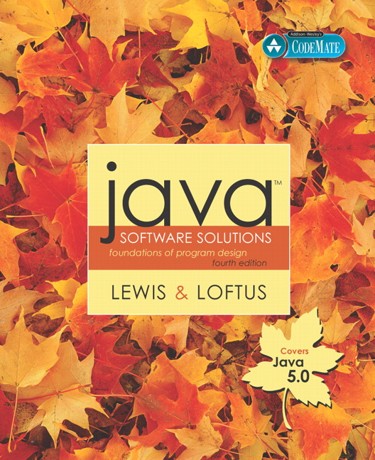 Lewis And Loftus Java Software Solutions Foundations Of Program Design