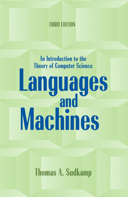 Sudkamp Languages And Machines An Introduction To The