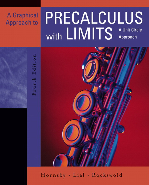Hornsby, Lial & Rockswold, Graphical Approach to Precalculus