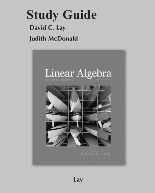 9780321982384 - Linear Algebra and Its Applications by David C. Lay