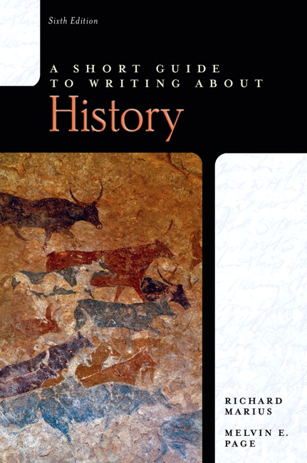 richard marius a short guide to writing about history