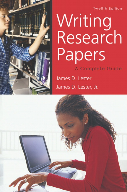research paper handbook lester Get this from a library research paper handbook [james d lester, jr] -- presents a comprehensive guide to writing effective research papers, and includes ideas on choosing a topic and gathering information, writing notes and outlines, using mla and apa styles, and more.