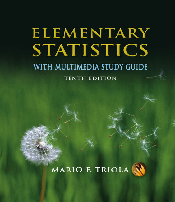 Triola  Elementary Statistics With Multimedia Study Guide