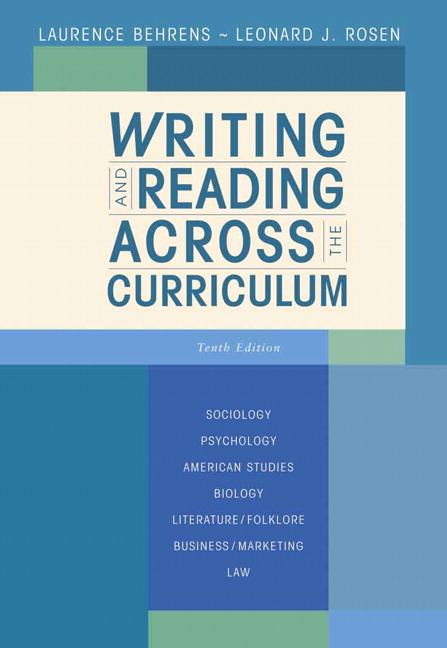 writing and reading across the curriculum 12th edition answers
