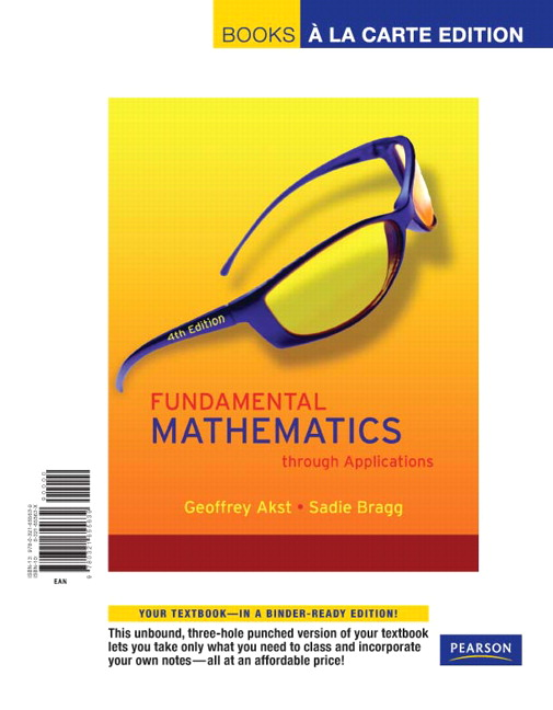 Fundamental Mathematics through Applications, 4th Edition