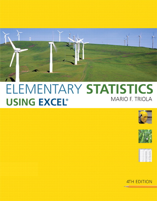 Triola elementary statistics using excel 4th edition pearson elementary statistics using excel 4th edition fandeluxe Choice Image