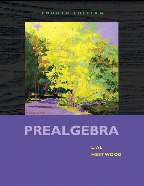 Lial hestwood prealgebra 5th edition pearson book cover fandeluxe Choice Image