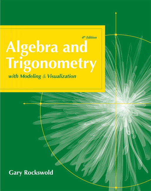 Pearson education mymathlab pearson algebra and trigonometry with modeling and visualization 4th edition fandeluxe Images