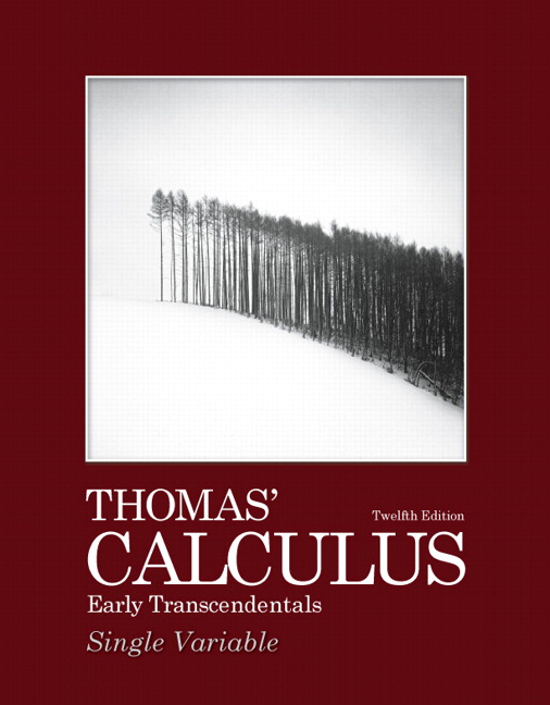 Pearson education pearson education mylab math standalone thomas calculus early transcendentals single variable 12th edition fandeluxe Images