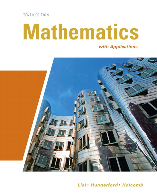 Lial hungerford holcomb mathematics with applications 10th mathematics with applications 10th edition fandeluxe Images