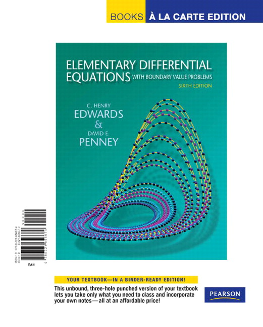 Edwards penney elementary differential equations with boundary elementary differential equations with boundary value problems fandeluxe Images