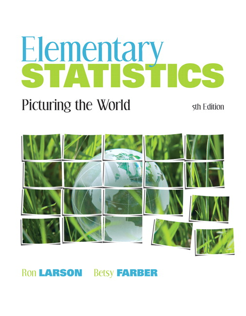 Larson farber elementary statistics picturing the world pearson elementary statistics picturing the world 5th edition fandeluxe Image collections
